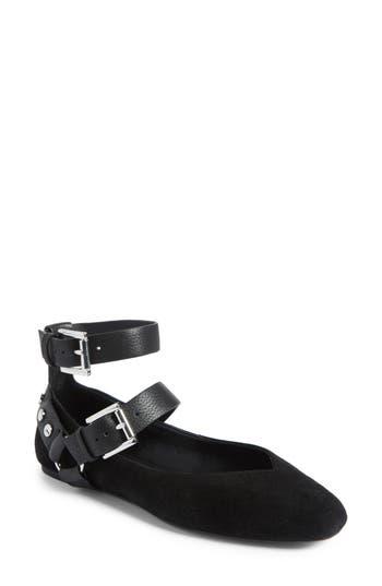 Rebecca Minkoff Vivica Ankle Strap Flat, Black