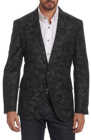 Big & Tall Robert Graham Portgain Classic Fit Sport Coat, Grey