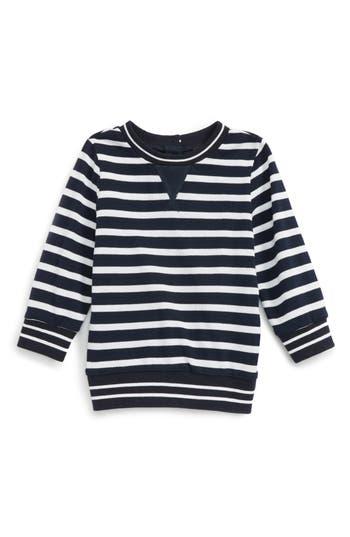 Toddler Boy's Bardot Junior Stripe Pique Sweater, Size 3-6M US / 000 AUS - Blue