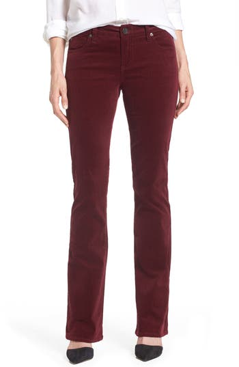 Kut From The Kloth Baby Bootcut Corduroy Jeans, Burgundy