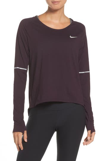 Nike Breathe Running Top, Purple