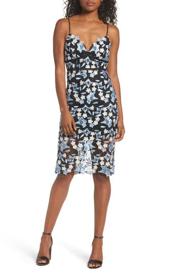 Bardot Lace Sheath Dress, Blue