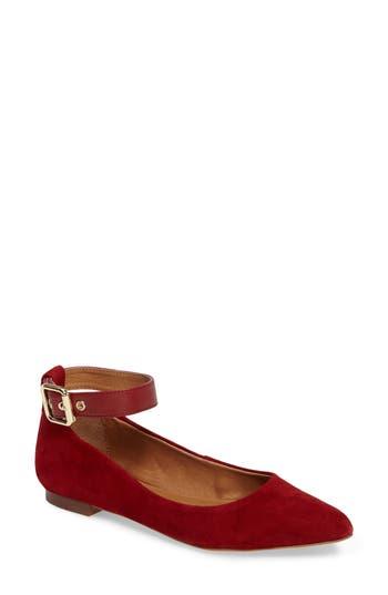 Corso Como Ramona Ankle Strap Flat- Red