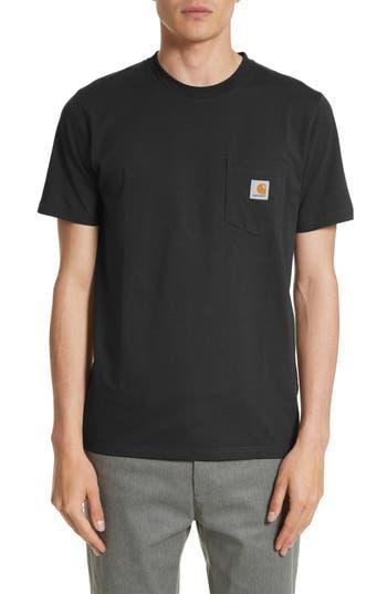 Carhartt Work In Progress Logo Pocket T-Shirt, Black