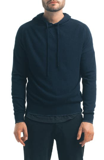 Good Man Brand Classic Slim Fit Merino Wool Hoodie, Blue