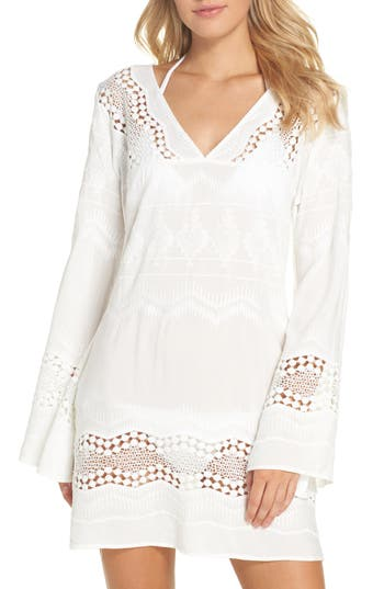 Women's La Blanca Cover-Up Tunic, Size X-Small - White
