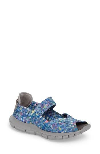 Bernie Mev. Halle Platform Wedge Sandal, Blue