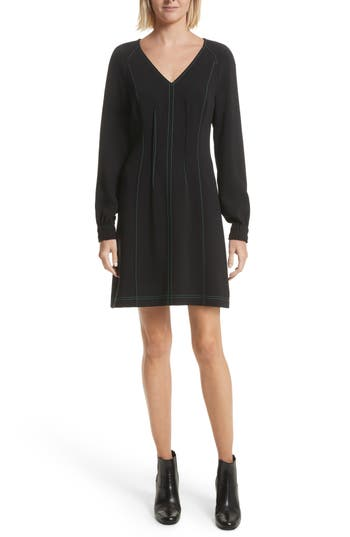 Grey Jason Wu Contrast Stitch Dress, Black