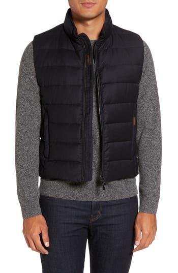 Men's Big & Tall Moorer Oliver L Wool & Cashmere Flannel Waterproof Vest