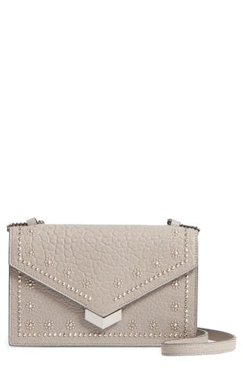 Jimmy Choo Leila Grainy Lambskin Leather Crossbody Bag - Metallic