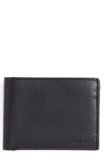 Cole Haan Bifold Leather Wallet With Pass Case - Black