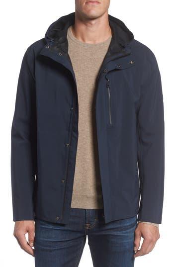 Marc New York Stratus Waterproof Hooded Rain Jacket, Blue