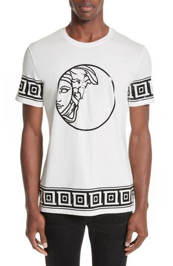 Versace Collection Tonal Medusa Print T-Shirt, White