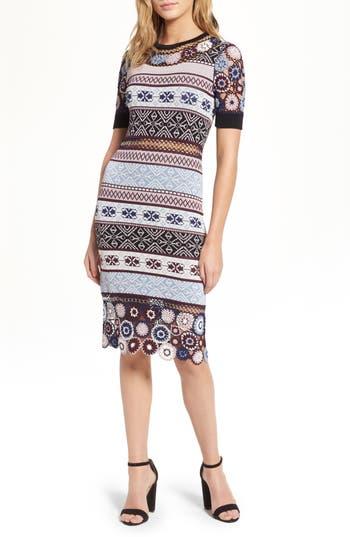 Women's Parker Carol Crochet Pencil Dress