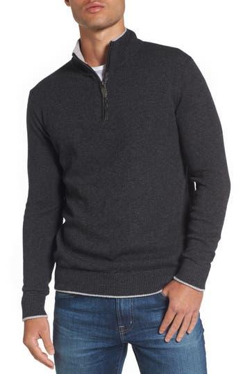 Jeremy Argyle Wool Blend Quarter Zip Sweater
