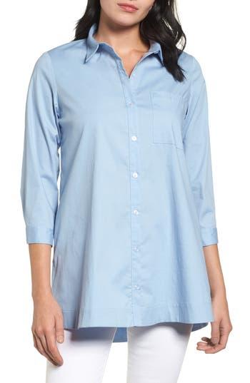 Women's Bobeau Poplin Shirt, Size X-Small - Blue