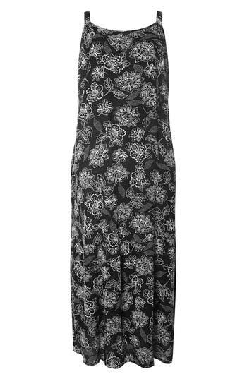 Plus Size Evans Print Maxi Dress, US / 18 UK - Black