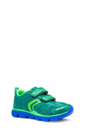 Boy's Geox Torque Sneaker, Size 3.5US / 35EU - Green