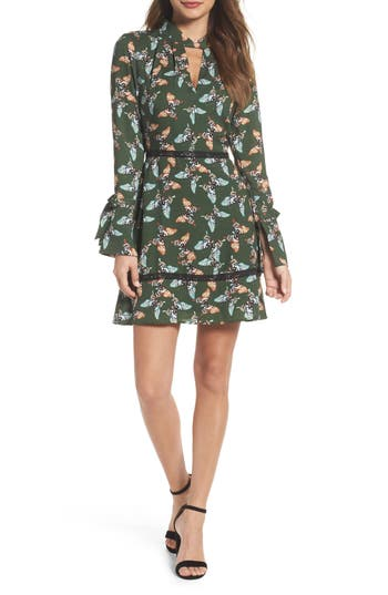 Adelyn Rae Odessa Fit & Flare Dress, Green