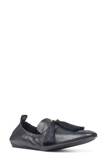 Nine West Ballard Tassel Loafer Flat, Black