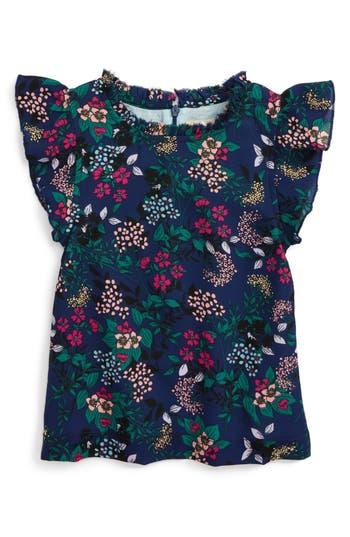 Infant Girl's Peek Emma Dress, Size L (12-18m) - Blue