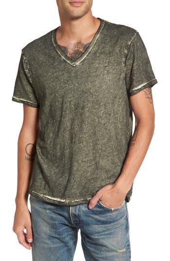 True Religion Brand Jeans V-Neck T-Shirt, Green