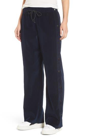 Hudson Jeans Aria Velvet Track Pants, Blue