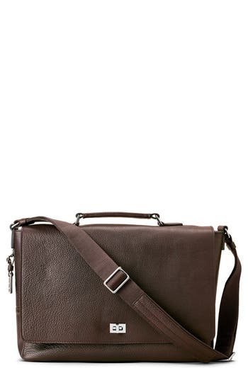 Shinola Leather Messenger Bag - Brown