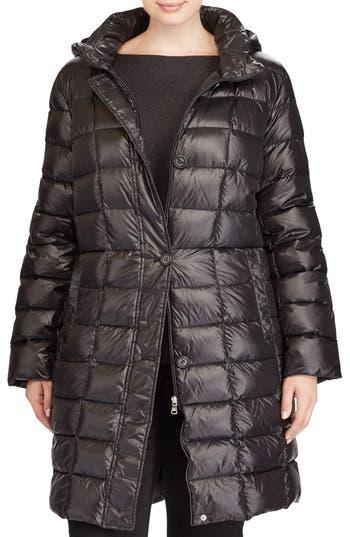 Plus Size Lauren Ralph Lauren Quilted Down Coat, Black
