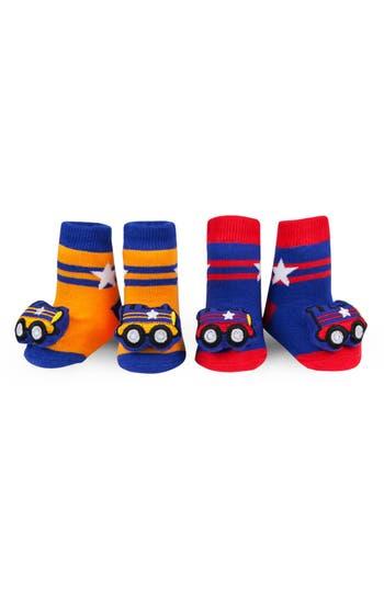 Infant Waddle  Friends 2Pack Train Rattle Socks
