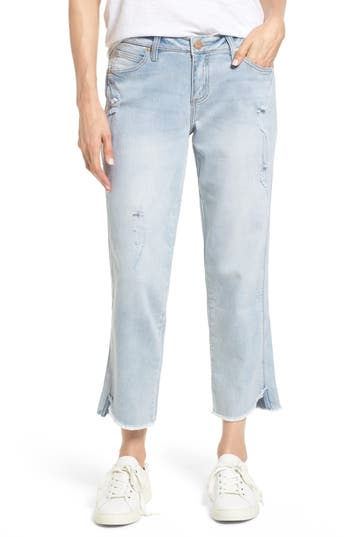 Women's Jag Jeans Logan Raw Step Hem Straight Leg Jeans at NORDSTROM.com