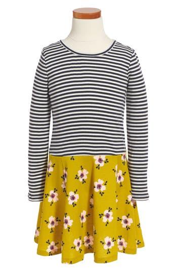 Girl's Tea Collection Mix Print Dress