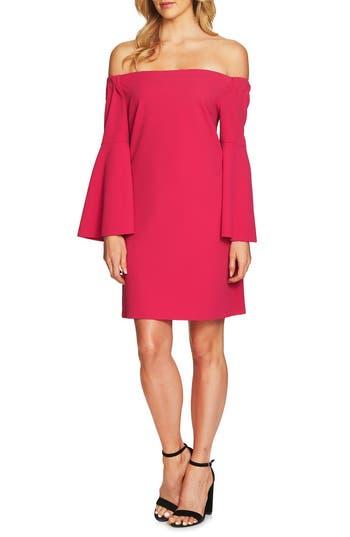 Cece Hadley Off The Shoulder Shift Dress, Red