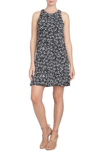Cece Twist Back Ditsy Floral Dress