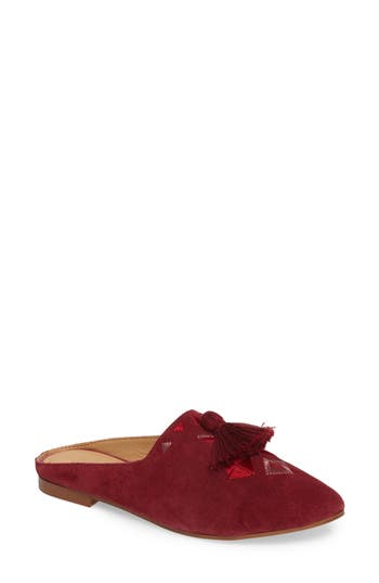 Soludos Palazzo Loafer Mule, Burgundy