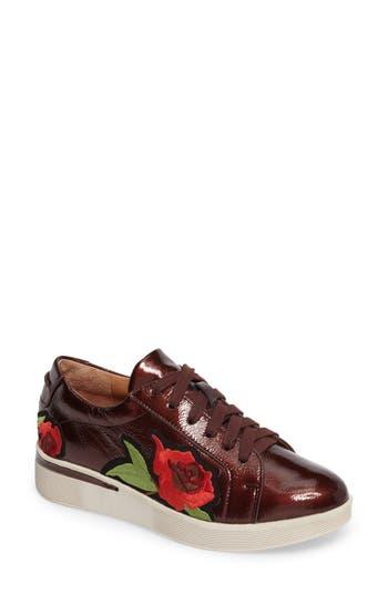 Gentle Soles Haddie Rose Sneaker- Burgundy