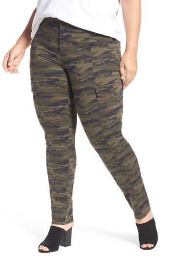 Plus Size Caslon Skinny Cargo Pants, Green