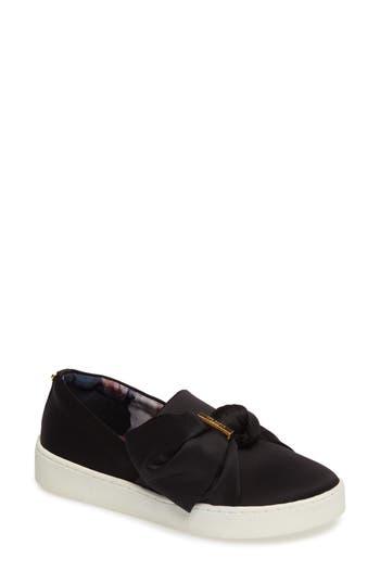 Ted Baker London Deyor Bow Slip-On Sneaker, Black