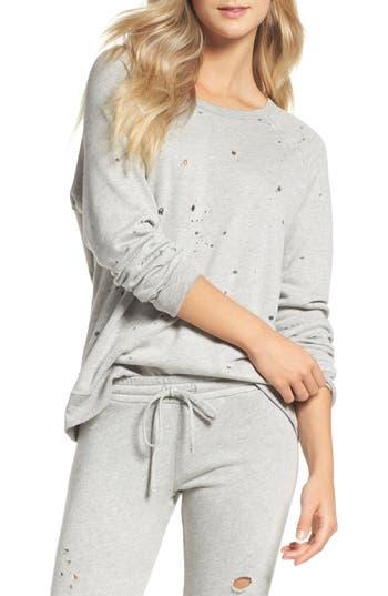 Women's Michael Lauren Destroyed Lounge Sweatshirt at NORDSTROM.com