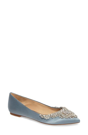 Badgley Mischka Malena Embellished Flat- Blue
