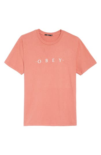 Obey Logo Graphic T-Shirt, Red