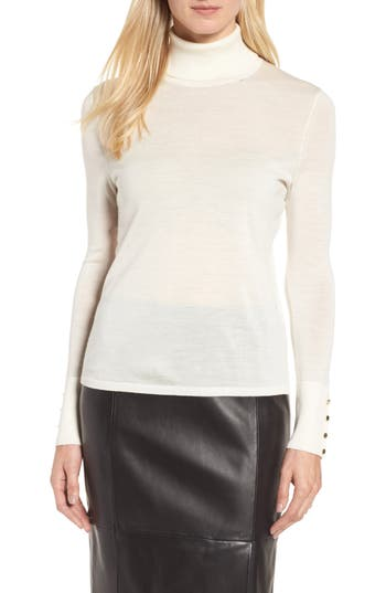 Boss Farrella Wool Turtleneck Sweater, Ivory