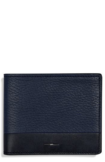 Shinola Bolt Leather Wallet - Blue