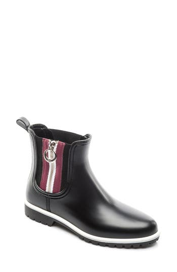 Bernardo Footwear Zip Rain Boot, Black