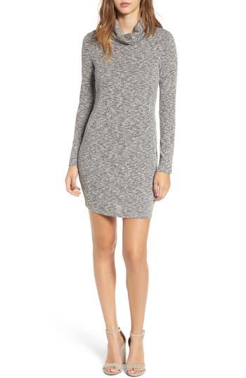 Everly Knit Turtleneck Dress, Grey