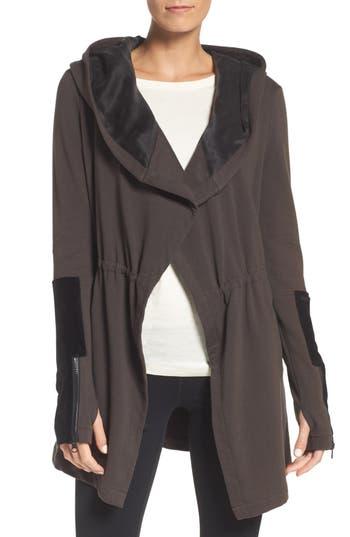 Blanc Noir New Traveler Hooded Jacket, Grey