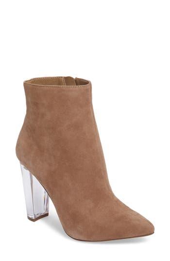 Jessica Simpson Teddi Crescent-Heel Bootie- Brown