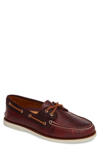 Sperry Gold Cyclone Boat Shoe, Burgundy