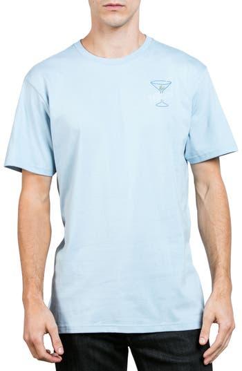 Volcom Kneon Nights T-Shirt, Blue