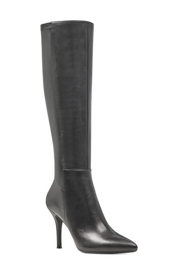 Nine West Fallon Pointy Toe Knee High Boot- Black